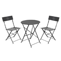 Greenfingers Steel 2 Folding Chairs 60cm Circular Bistro