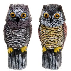 Greenfingers Bird Scarer Owl Moving Head - 38cm Height Assorted Colours