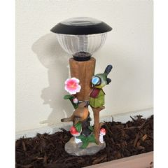 Greenfingers Spade and Birds Solar Light - 38.5cm Height
