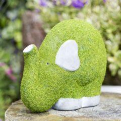 La Hacienda Flocked Elephant Garden Ornament