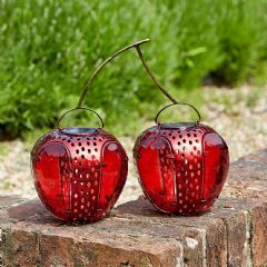 Smart Garden Funky Cherries Solar Lantern - 31cm Width