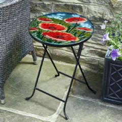 Smart Garden Hand Painted Poppy 35cm Side Table