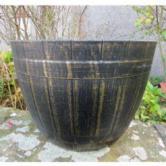 Beijing Barrel Planter Gold - 52cm Diameter