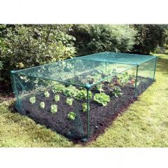 Complete Build It Fruit Veg Cage Kit 20mm Bird Netting - W200 x D200 x H125cm