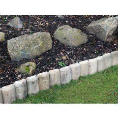 Silver Birch Log Garden Edging - 1m