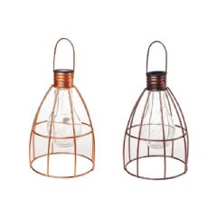 Image of Cole and Bright Solar Caged Lightbulb Lantern