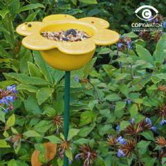 Image of Wildlife World Ceramic Petal Feeder - Yellow - 71cm high