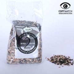 Wildlife World Premium Bird Food Mix 2 - Free flowing for Seed Feeders 1kg
