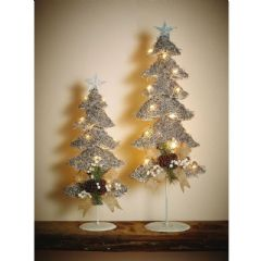 Gardman Pre-Lit Silver Jute Tree - Large