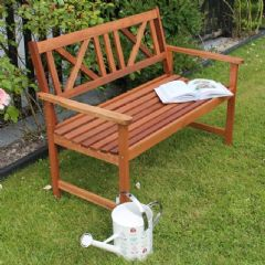 Greenfingers 2 Seater Wooden Cross Bench