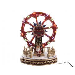 Image of Kaemingk Christmas LED Rotating Musical Ferris Wheel Scene