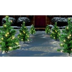 Premier LED Christmas Tree Path Lights - 6 Trees