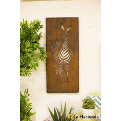 La Hacienda Zebra Wall Art - Oxidised Steel