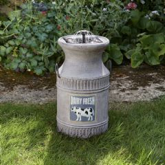 Smart Garden Solar Milk Churn Water Feature