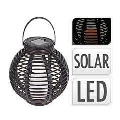 Image of Greenfingers Rattan Solar Lantern - 23cm Height