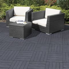 Greenfingers Cosmopolitan Recycled Rubber Deck Tile - 6 Pack