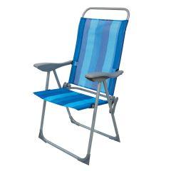 Greenfingers Blue Stripe Folding Armchair