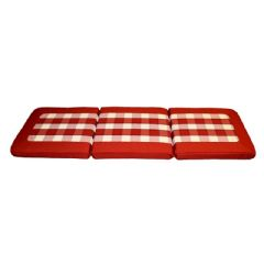Santos Reversible 3 Seater Bench Cushion - Red - W141 x D48cm