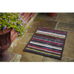 Image of Hug Rug Indoor Doormat - Multi Stripe - 65cm x 85cm