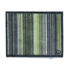 Image of Hug Rug Indoor Doormat - Green Stripe - 65cm x 85cm