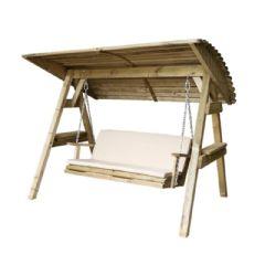 Zest 4 Leisure Miami Swing Seat Pad - Stone - W120 x D48cm - Cushion Only