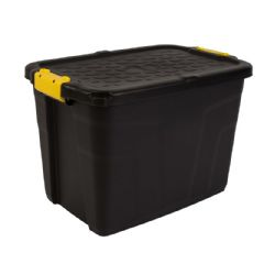 Image of Strata Heavy Duty Storage Box with Lid - 60L
