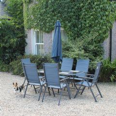 Image of Ellister Aishlinn 6 Seater Dining Set - Blue