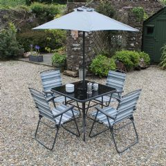 Image of Ellister Abbey 4 Seater Dining Set - Grey