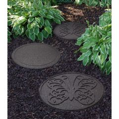 Image of Greenfingers Recycled Rubber Butterfly Stepping Stone