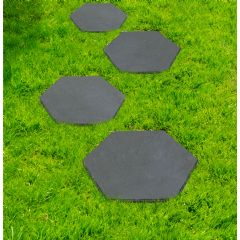 Image of Greenfingers Recycled Rubber Hexagon Stomp Stone