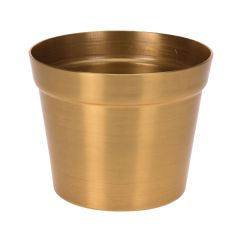Image of Ellister Metalic Finish Planter - Gold - H11cm