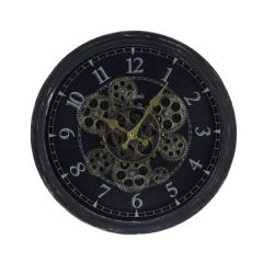 Image of Ellister Rotating Cog Wall Clock - 37cm