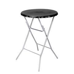 Image of Ellister Bottletop Foldable Bar Table - Black - H115cm