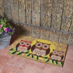 Image of Smart Garden Owl Door Mat 75 x 45cm