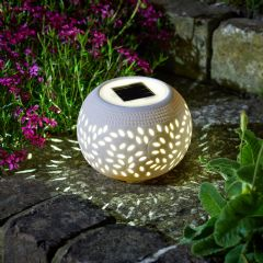 Image of Smart Garden Solar Filigree Ceramic Lantern