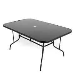 Ellister Siena Rectangular Glass Table - 150cm
