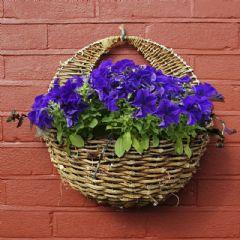 Apollo Rattan Wall Basket 16in