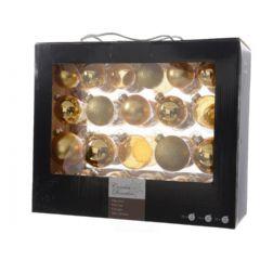Kaemingk Glass Christmas Tree Baubles 42 Pack - Light Gold