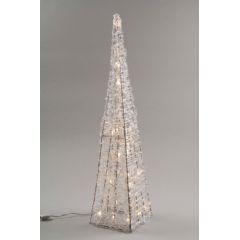 Kaemingk LED Outdoor Acrylic Pyramid 90cm - Warm White