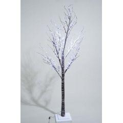 Kaemingk Cool White LEDs Tree With Snow - 125cm