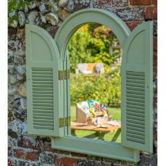 Norfolk Verdi FSC Eucalyptus Outdoor Arch Mirror