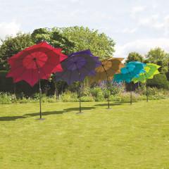 Norfolk Lotus Fibreglass Parasol Purple