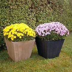 Greenfingers Flowerpot Wood Effect D