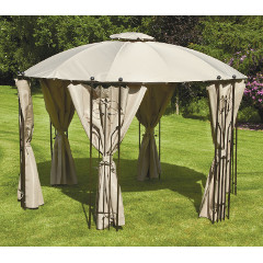 Glendale Circular Gazebo with Side Curtains 3.5m