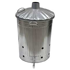 Galvanised Bin Style Tapered Incinerator - 90 Litre