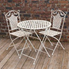 Ellister Gibraltar Iron 2 Armchairs 70cm Circular Patio Set