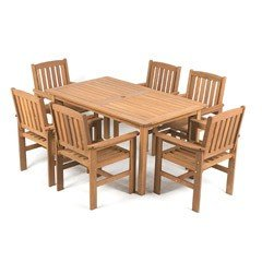Greenfingers Chessington 6 Seater Dining Set - 150cm Table