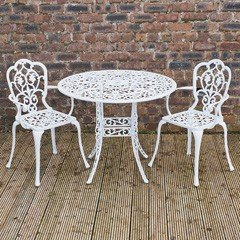 Stamford Juno 2 Seater Carver Set - 90cm White