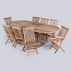Find Beautiful Eight Seater Wooden Garden Tables And Chairs For Sale