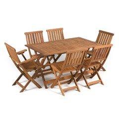 Greenfingers Tropicana Balau 6 Chair 135cm Rectang